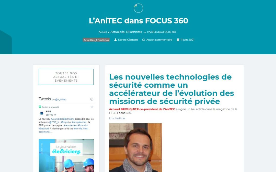 L'ANITEC dans Focus 360